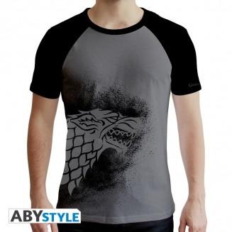 "GAME OF THRONES - Tshirt ""Stark"" homme MC gris & noir"