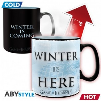 GAME OF THRONES - Mug Heat Change - 460 ml - Winter is here