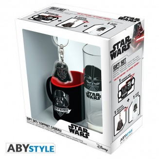 "STAR WARS - Pck Verre 29cl + Keyring + Mini Mug ""Dark Vador"""