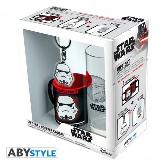 "STAR WARS - Pck Verre 29cl + Keyring + Mini Mug ""Trooper"""