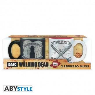 THE WALKING DEAD - Set 2 mugs à espresso - 110 ml - Daryl VS Negan