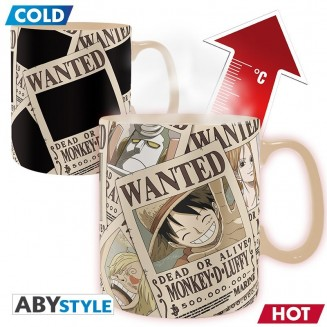 ONE PIECE - Mug Heat Change - 460 ml - Wanted
