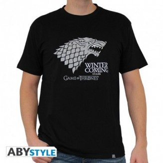 "GAME OF THRONES - Tshirt ""Winter is coming"" homme MC black - New fit"