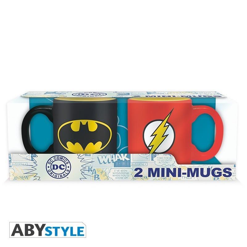 DC COMICS - Set 2 mugs à espresso - 110 ml - Batman & Flash