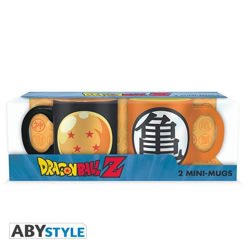 DRAGON BALL - Set 2 mugs à espresso - 110 ml - DBZ/Boule cris.&Kame