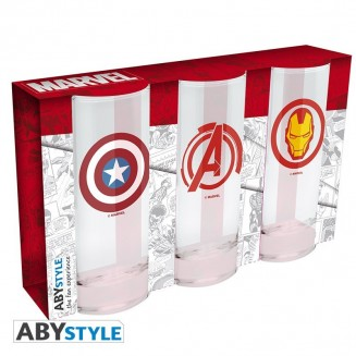 MARVEL - Set de 3 verres