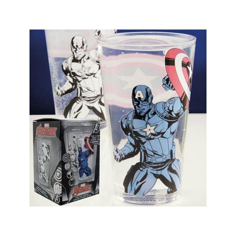 MARVEL - Verre Thermo-réactif Captain America 450ml