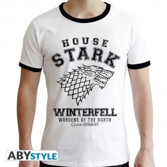 "GAME OF THRONES - Tshirt ""House Stark"" homme MC blanc - premium"