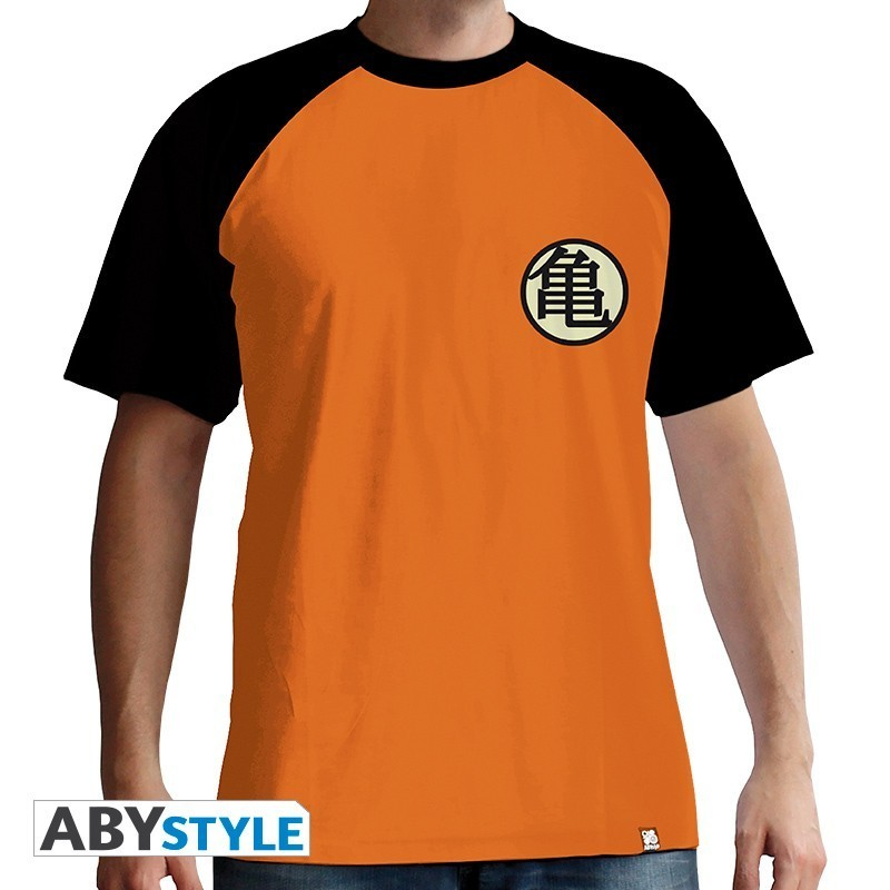 "DRAGON BALL - Tshirt ""Kame Symbol"" homme MC orange - premium"