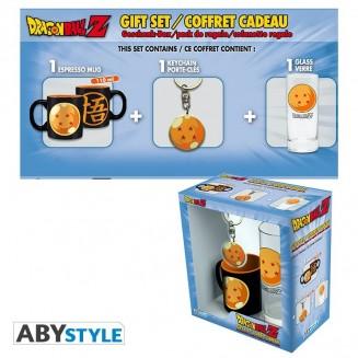 """DRAGON BALL - Pck Verre 29cl + Keyring + Mini Mug """"Boule de cristal"""""""
