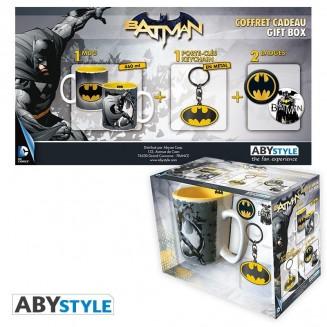 """DC COMICS - Pck Mug + Porte-clés + Badges """"Batman"""""""