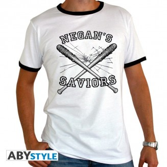 "THE WALKING DEAD - Tshirt ""Negan's Saviors"" homme MC Blanc"