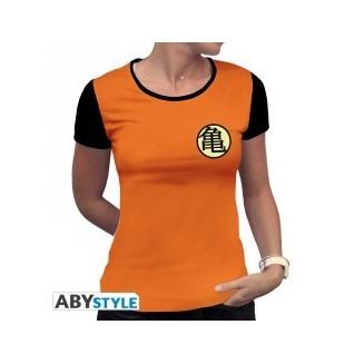 "DRAGON BALL - Tshirt ""Kame Symbol"" femme MC orange"