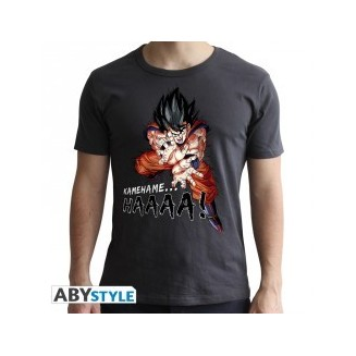 "DRAGON BALL - Tshirt ""DBZ/ Kamehameha"" homme MC dark grey"