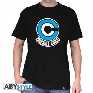 """DRAGON BALL - Tshirt """"DB/ Capsule Corp"""" homme MC black"""