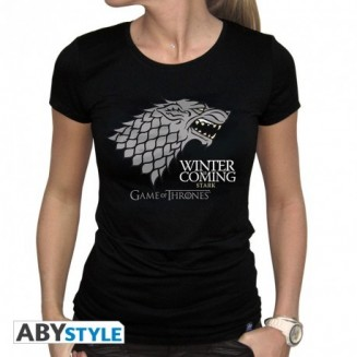 "GAME OF THRONES - Tshirt ""Winter is coming"" femme MC black"