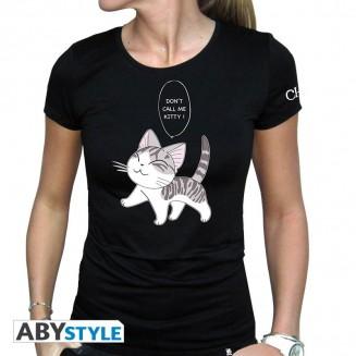 """CHI - Tshirt """"Kitty"""" femme MC black"""