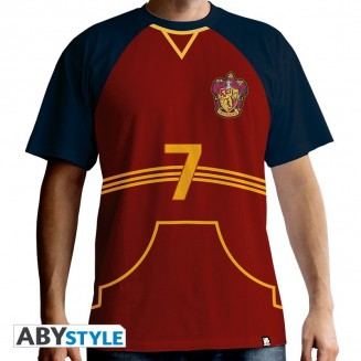 "HARRY POTTER - Tshirt ""Maillot de Quidditch"" homme MC red"