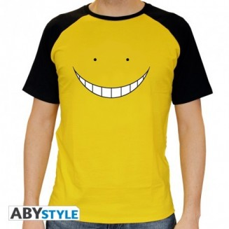 "ASSASSINATION CLASSROOM - Tshirt ""Koro smile"" homme MC jaune"