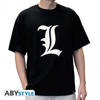 "DEATH NOTE - Tshirt ""L tribute"" homme MC black"