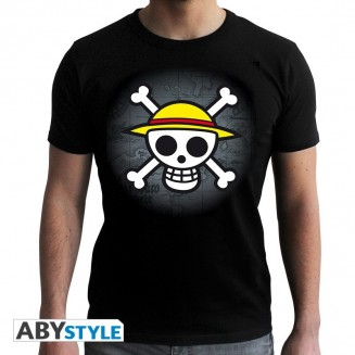 "ONE PIECE - Tshirt ""Skull with map"" homme MC black"