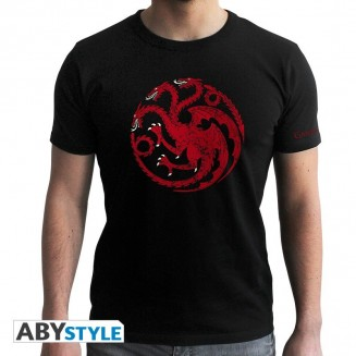 "GAME OF THRONES - Tshirt ""Targaryen"" homme MC black"