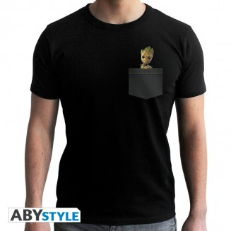 "MARVEL - Tshirt ""Pocket Groot"" homme MC black"
