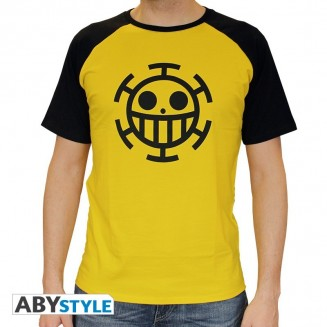 "ONE PIECE - Tshirt ""Trafalgar Law"" homme MC jaune"
