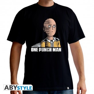 "ONE PUNCH MAN - Tshirt ""Saitama Fun"" homme MC black"