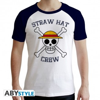 "ONE PIECE - Tshirt ""Skull"" homme MC blanc & bleu"