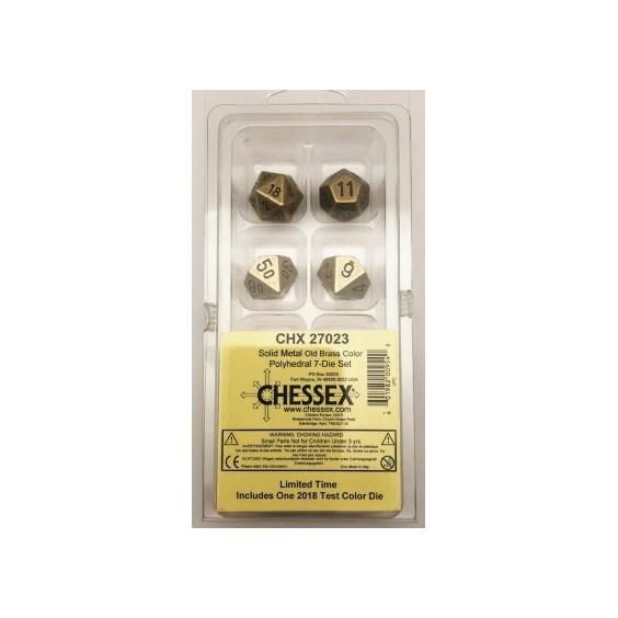 Chessex Set de 7 dés Metal Polyhedral