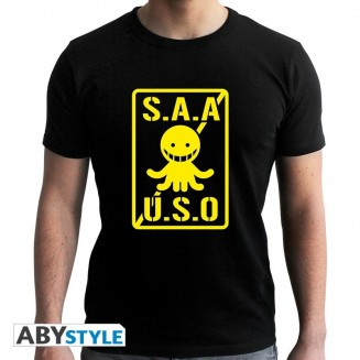 "ASSASSINATION CLASSROOM - Tshirt ""S.A.A.U.S.O"" homme MC black"