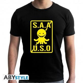 "ASSASSINATION CLASSROOM - Tshirt ""S.A.A.U.S.O"" homme MC black"