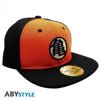 DRAGON BALL - Casquette snapback- Noir & Orange