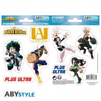 MY HERO ACADEMIA - Stickers - 16x11cm/ 2 planches - UA High School