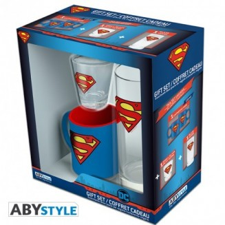 "DC COMICS - Pck Verre 29cl + Shooter + Mini Mug ""Superman"""