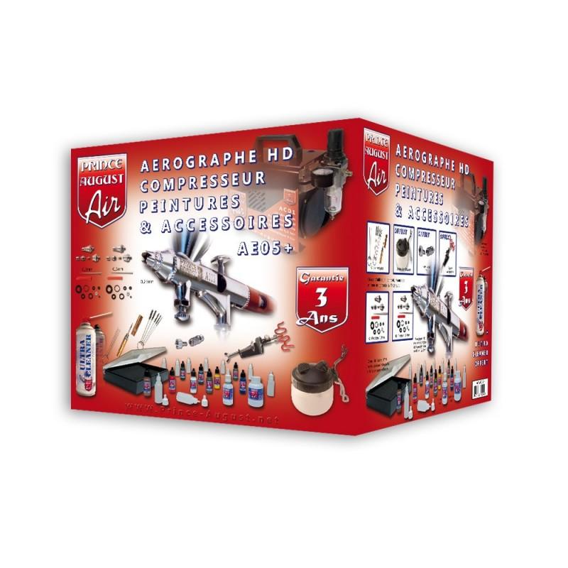 Air Ultimate Aérographe HD Compresseur Peintures Accessoires + UC01