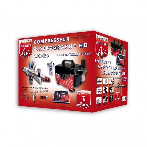 Ensemble Aérographe HD et Compresseur + Ultra Cleaner