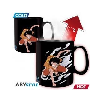 ONE PIECE - Mug Heat Change - 460 ml - Luffy&Ace - boîte x2
