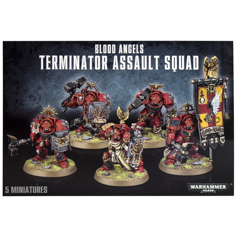 W40K: Blood Angels Terminator Assault Squad