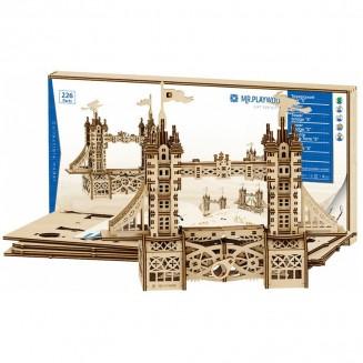 Tower Bridge petite - maquette 3D mobile en bois