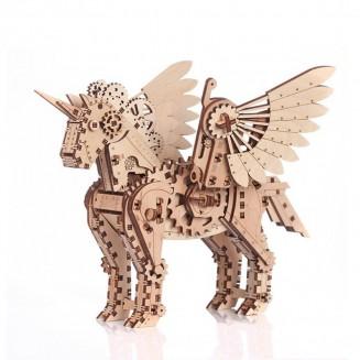 Licorne - petite maquette 3D mobile en bois