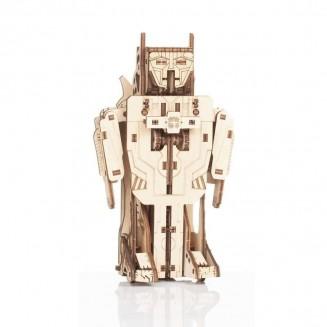 Robot avion transformer - maquette 3D mobile en bois