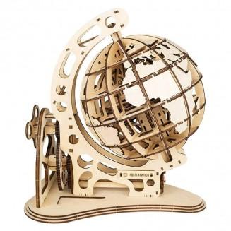 Globe - maquette 3D mobile en bois