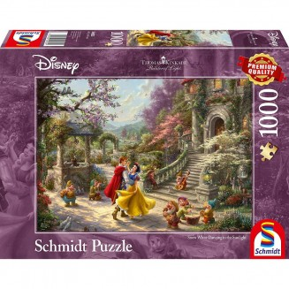 Puzzle Disney- Snow White Dancing in the Sunlight - Thomas Kinkad - 1000