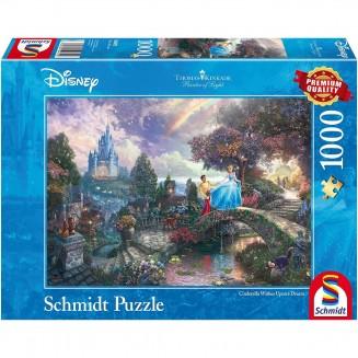 Puzzle Disney - Cinderella Wishes Upon a Dream - Thomas Kinkad - 1000