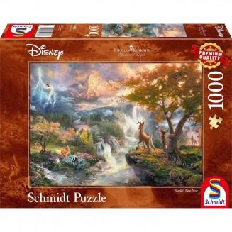 Puzzle Disney - Bambi's First Year - Thomas Kinkad - 1000