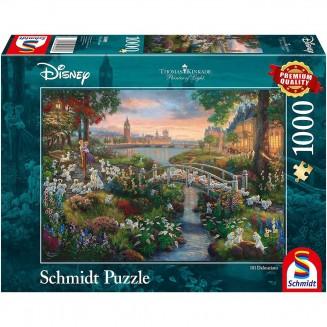 Puzzle Disney - 101 Dalmatians - Thomas Kinkad - 1000
