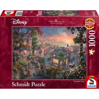 Puzzle Disney - Lady and the Tramp - Thomas Kinkad - 1000