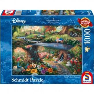 Puzzle Disney - Alice in Wonderland - Thomas Kinkad - 1000